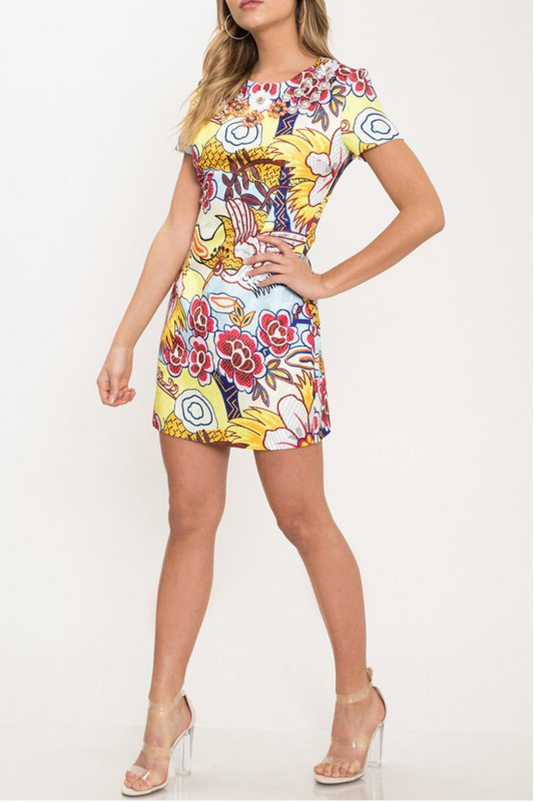 Latiste Floral Mini Dress - Front Full Image