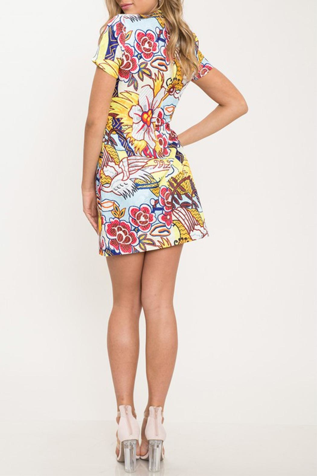 Latiste Floral Mini Dress - Side Cropped Image