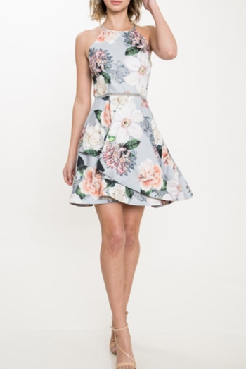 Latiste Floral  Overlay Dress from New York City by Dor L'Dor — Shoptiques