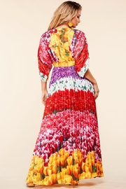 Latiste Floral Pleated Maxi - Front full body