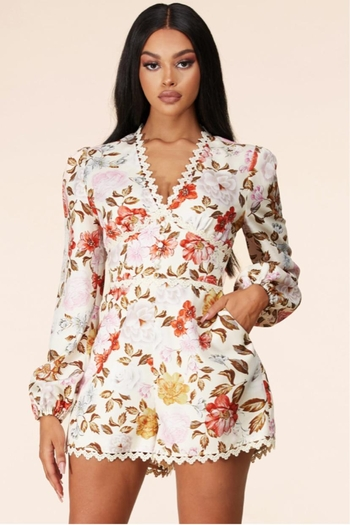 Latiste Floral Romper from Los Angeles by Chikas — Shoptiques