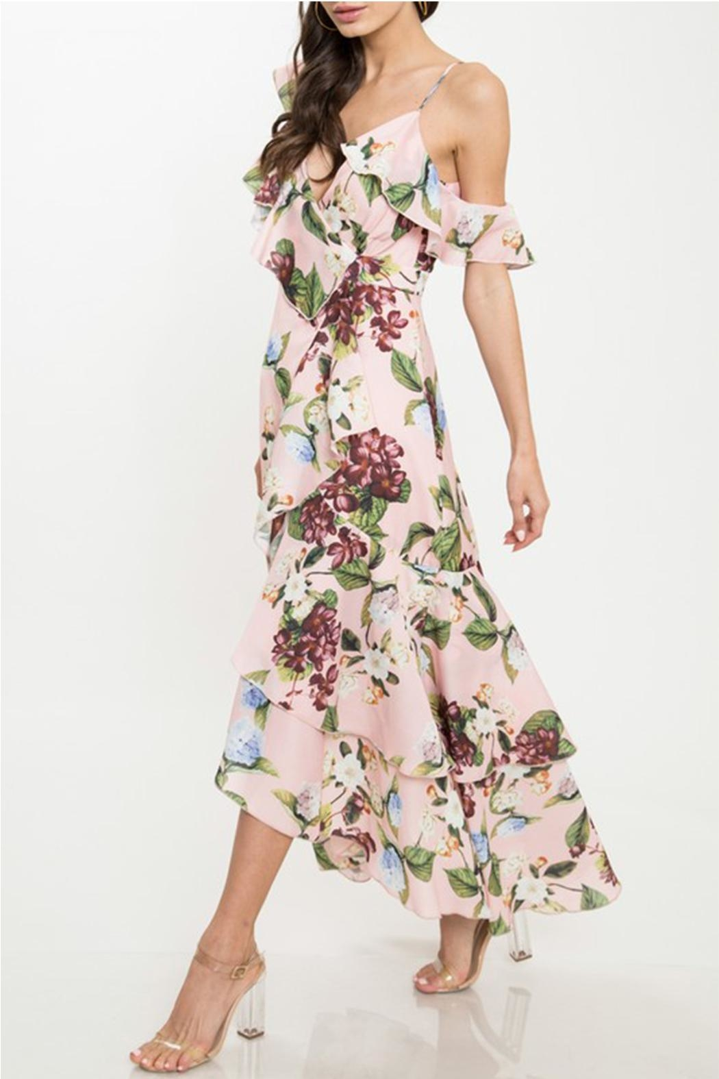 0ae0e6912ee6 Latiste Floral Ruffle Dress from New York by Dor L Dor — Shoptiques