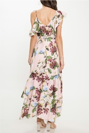 Latiste Floral Ruffle Dress - Back cropped