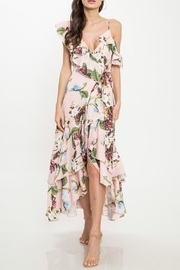 Latiste Floral Ruffle Dress - Front full body