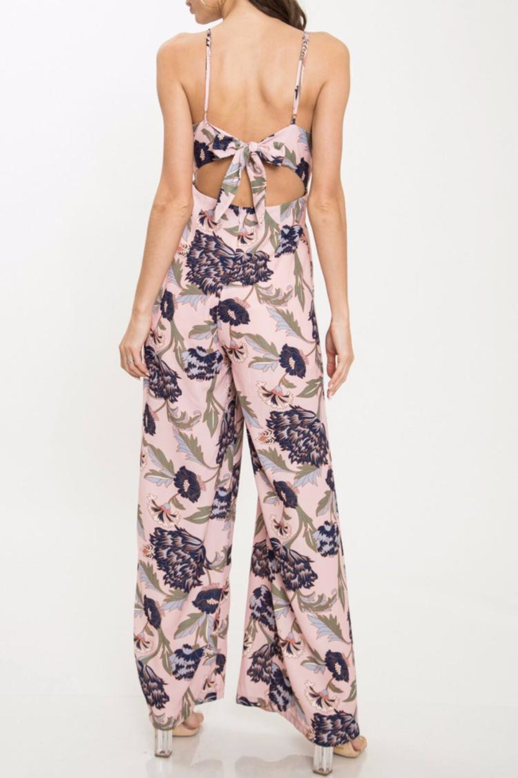 Latiste Floral Ruffle Jumpsuit - Front Full Image