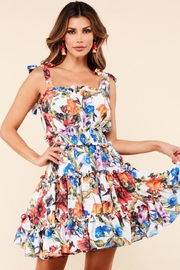 Latiste Floral Tie-Shoulder Dress - Product Mini Image