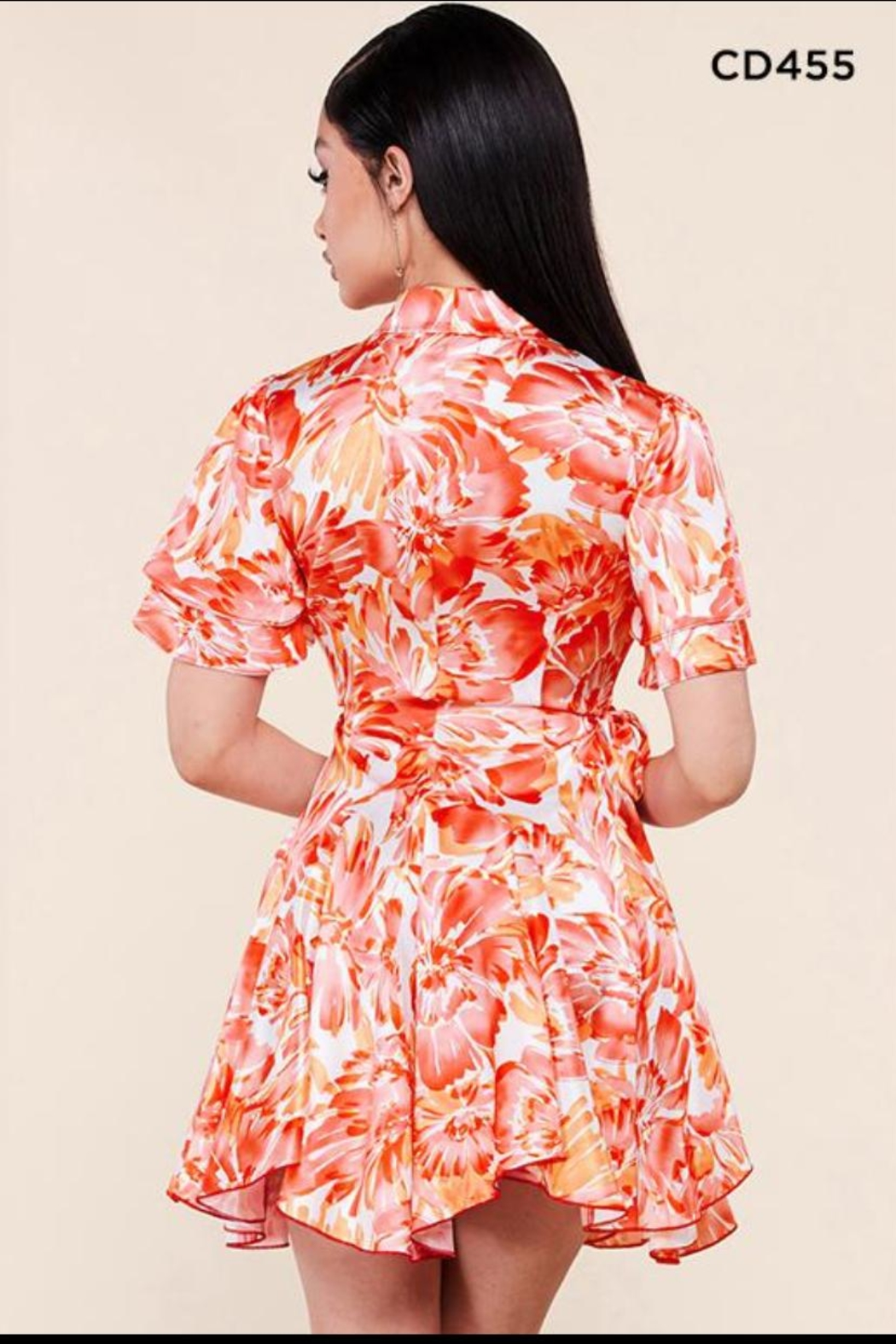 Latiste Floral Wrap Dress - Front Full Image