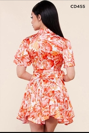 Latiste Floral Wrap Dress - Front full body