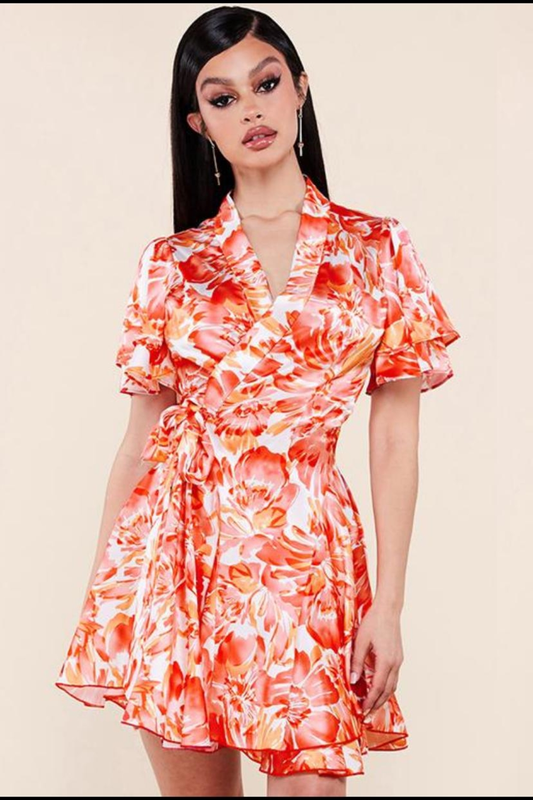 Latiste Floral Wrap Dress - Main Image