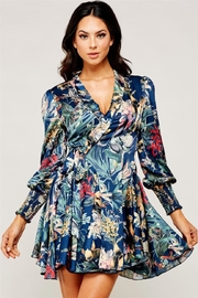 Latiste Floral Wrap Dress - Front cropped