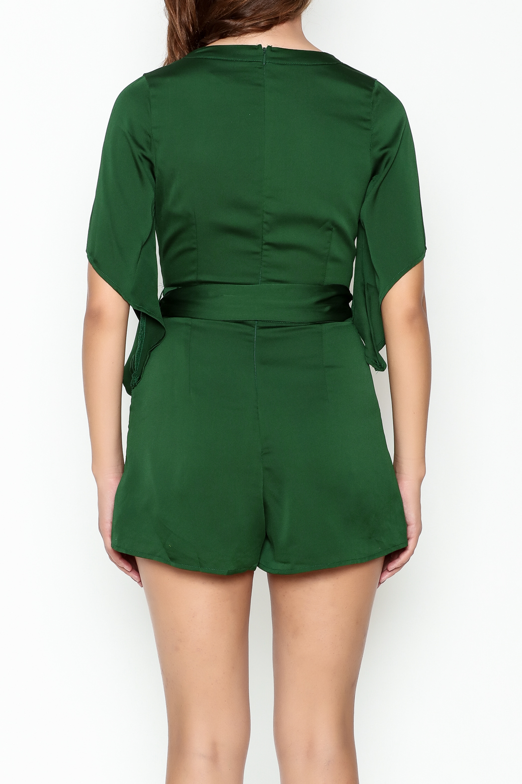 Latiste Front Tie Romper - Back Cropped Image