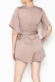 Latiste Front Tie Romper - Back cropped