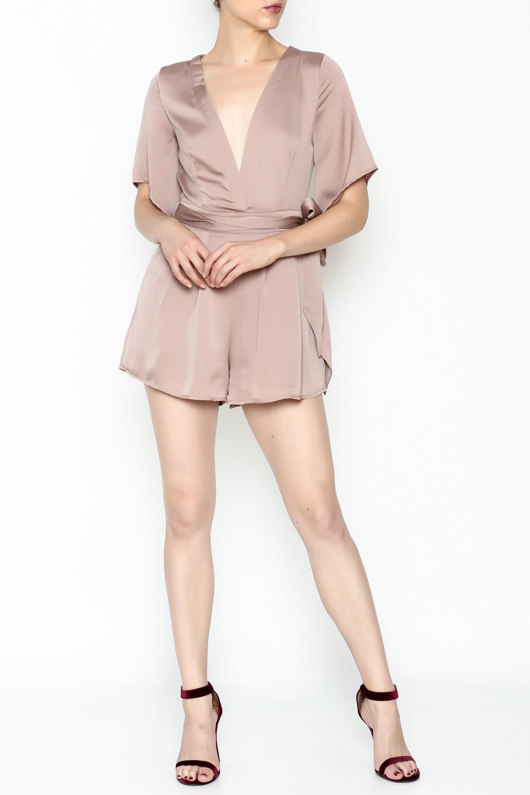 Latiste Front Tie Romper - Side Cropped Image
