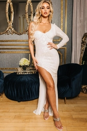 Latiste Frozen White Dress - Front cropped