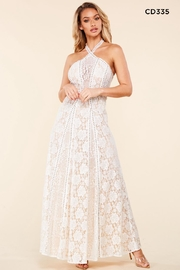 Latiste Halter Lace Maxi - Product Mini Image