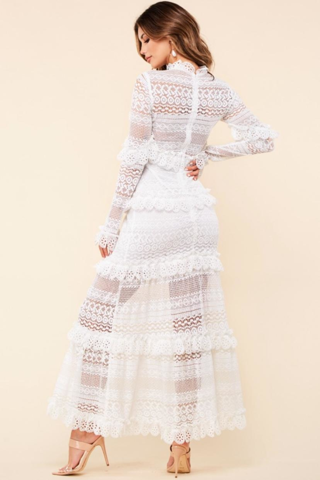 Latiste Lace Maxi Dress - Front Full Image