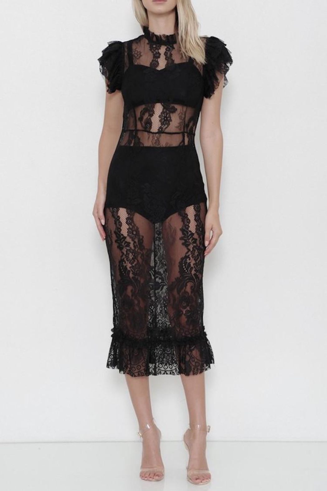 Latiste Lace Midi Dress - Main Image