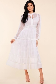 Latiste Lace Trim Dress - Front full body