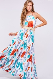 Latiste Leaf Print Maxi - Front cropped