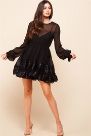Latiste Long-Sleeve Black Dress - Product Mini Image