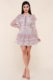 Latiste Long-Sleeve Paisley Dress - Front cropped