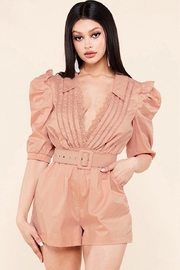 Latiste Mauve Pink Romper - Front cropped