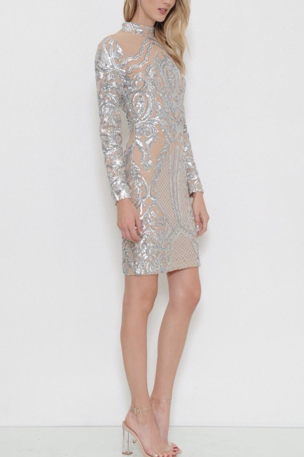 Latiste Midi Sequin  Dress - Front Full Image
