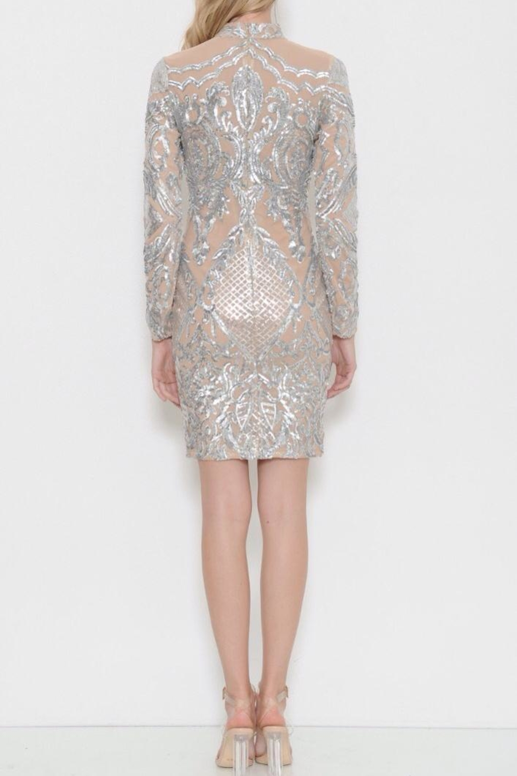 Latiste Midi Sequin  Dress - Side Cropped Image
