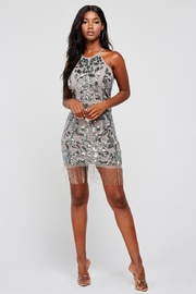 Latiste Mocha Sequin Dress - Product Mini Image