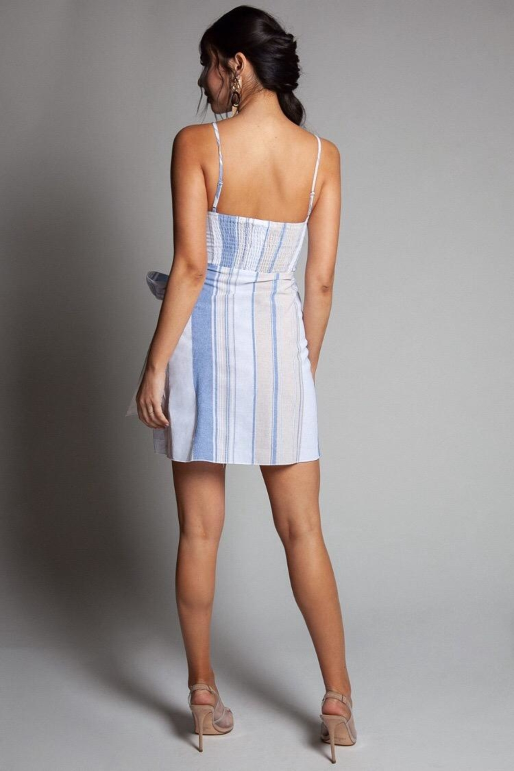 Latiste Multi Striped Dress - Side Cropped Image