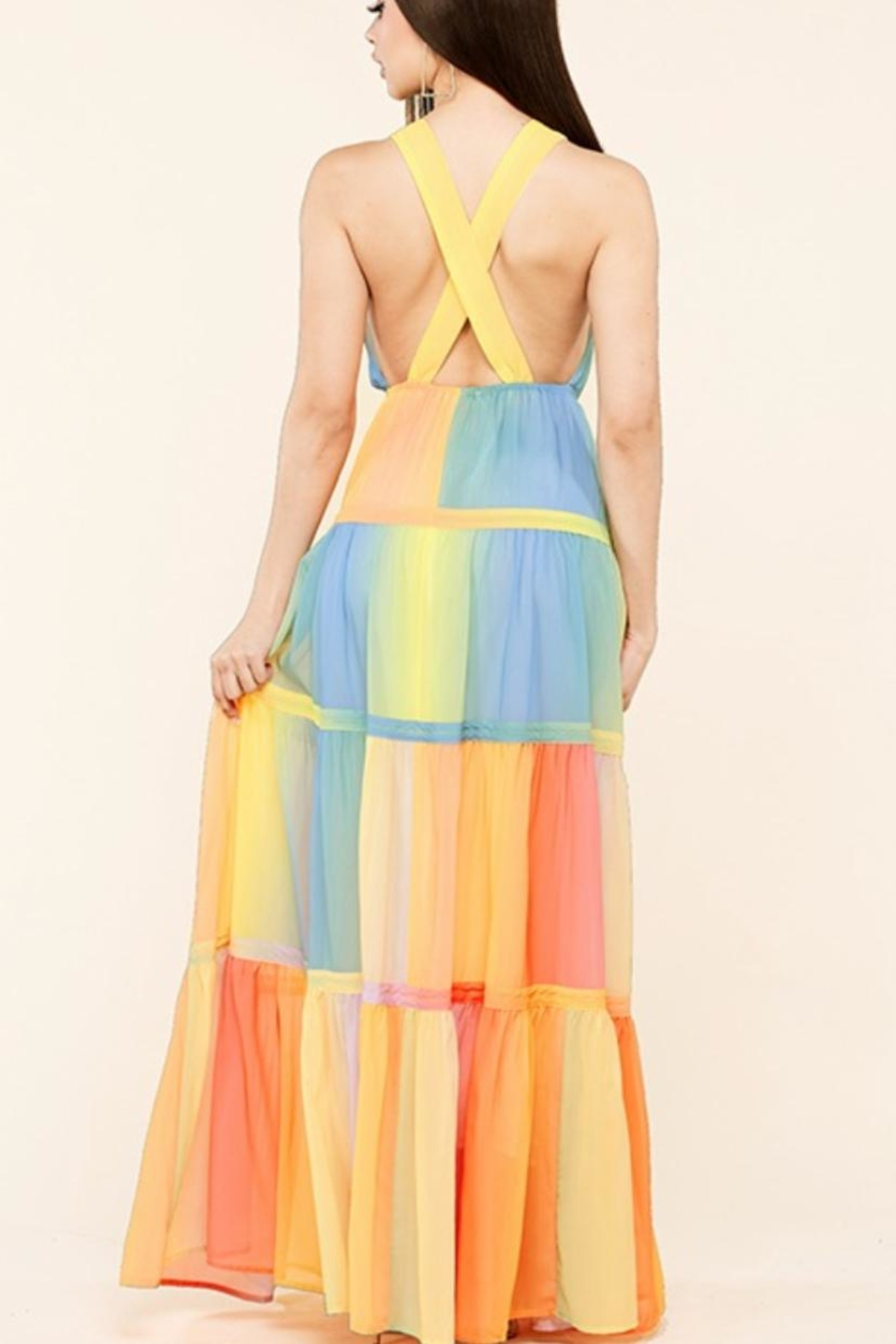 Latiste Multicolored Maxi Dress - Front Full Image