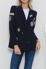 Latiste Navy Patch Blazer - Product Mini Image