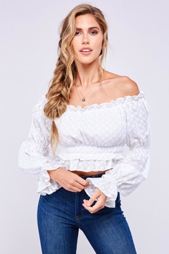 Latiste Off Shoulder Cotton Top - Product List Image
