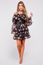 Latiste Off-Shoulder Floral Dress - Front full body
