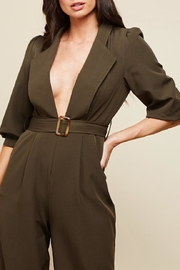 Latiste Olive Green Jumpsuit - Front full body