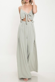 Latiste Olive Tie Jumpsuit - Product Mini Image