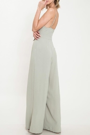 Latiste Olive Tie Jumpsuit - Side cropped
