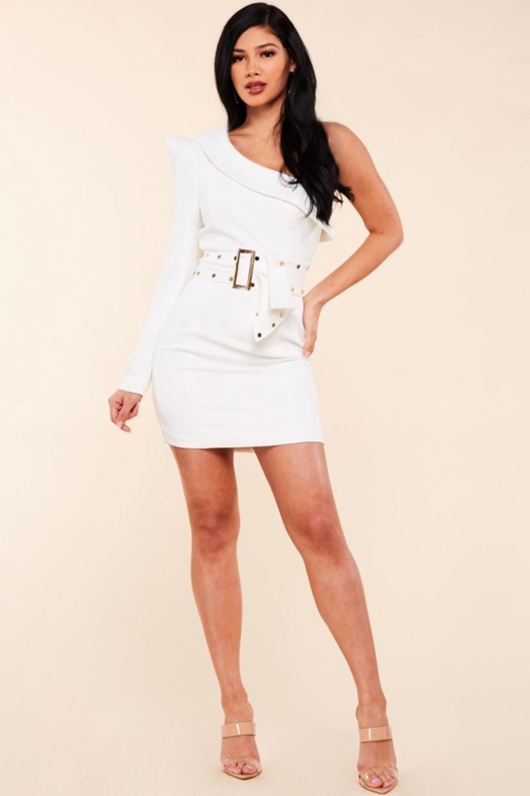 Latiste One-Shoulder Mini Dress - Front Cropped Image