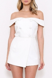 Latiste Ots White Romper - Front full body