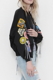 Latiste Patch Bomber Jacket - Front full body