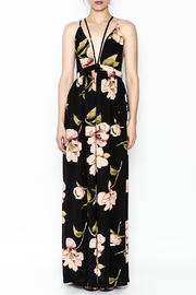 Latiste Printed Strapy Maxi Dress - Front full body