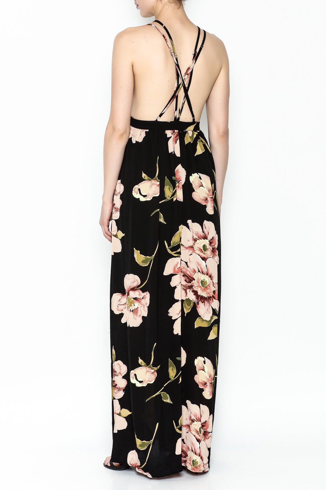 Latiste Printed Strapy Maxi Dress - Back Cropped Image
