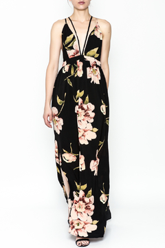 Shoptiques Product: Printed Strapy Maxi Dress