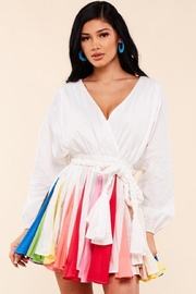 Latiste Rainbow Cotton Dress - Front cropped