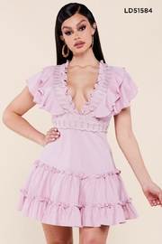 Latiste Ruffled Cotton Dress - Front cropped