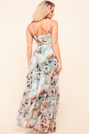 Latiste Sage Floral Dress - Front full body