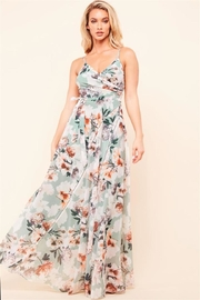 Latiste Sage Floral Dress - Product Mini Image
