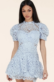 Latiste Sky-Blue Lace Dress - Product Mini Image