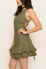 Latiste Strappy Check Dress - Product Mini Image