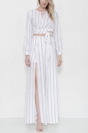 L'atiste Striped Flare Pant Set - Front cropped